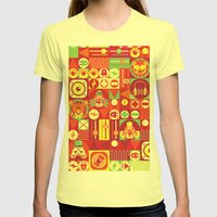 Electro Circus Womens Fitted Tee Lemon SMALL
