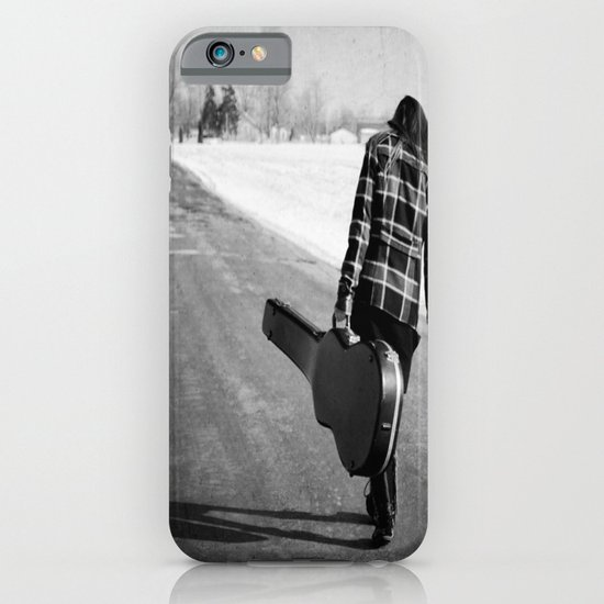 Girl with Guitar iPhone & iPod Case