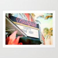 Tropical Kanpai Sports Bar Art Print