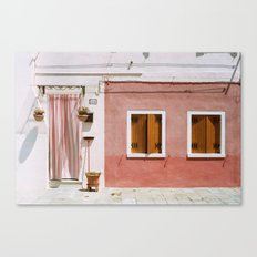 Sunny pink house Canvas Print