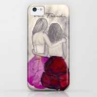iPhone 5c Cases featuring Flower Friends by Big Beautiful Blue Eyes