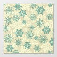 Snowflakes #2 Canvas Print