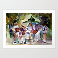 Summer Time Rock And Rol… Art Print