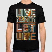 LIVE & LET LIVE Mens Fitted Tee Black SMALL
