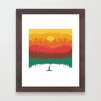 Layers Of Nature Framed Art Print