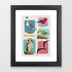 Hawaii Birds Collection Part 2 Framed Art Print