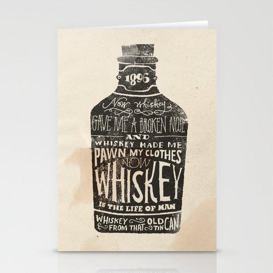 Whiskey Stationery Card