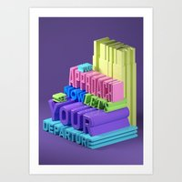Typographic Insults #5 Art Print