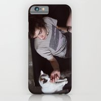 iPhone & iPod Case featuring boy with cat by bearandvodka