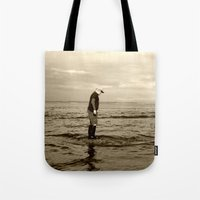 A Boy And The Sea Tote Bag
