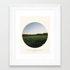 Go Instead Framed Art Print