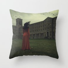 As The Crow Flies Throw Pillow