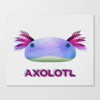 Axolotl Friend Canvas Print