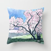 Hillside Blossom Throw Pillow