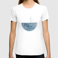 moon T-shirts featuring Mown by Enkel Dika
