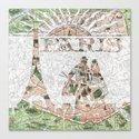 Under The Paris Sun - Paris Map Canvas Print
