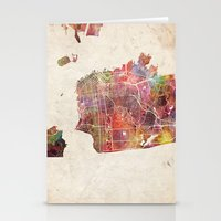 san francisco Stationery Cards featuring San Francisco by MapMapMaps.Watercolors