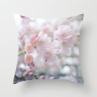 Blossoming Blossoms Throw Pillow