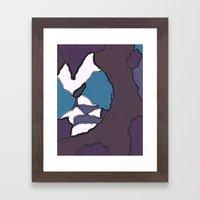 Man face Framed Art Print