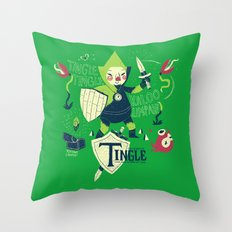 the legend of tingle Throw Pillow