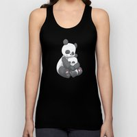 Panda Hug Unisex Tank Top