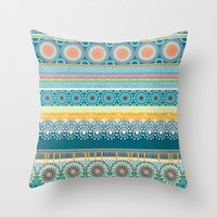 Blue Streaks Throw Pillow