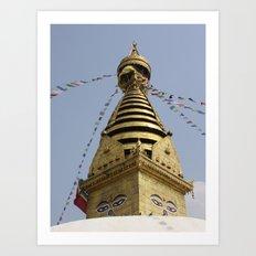 Swayambhunath Stupa Art Print