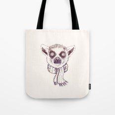Lemur and scarf  Tote Bag