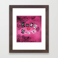 The ORIGINAL Burn Book design from the movie Mean Girls Framed Art Print
