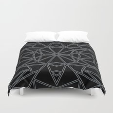 Ab Star Black and Grey Duvet Cover