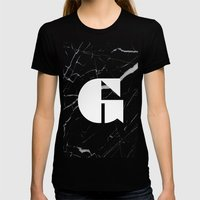 Black Marble - Alphabet G Womens Fitted Tee Black SMALL