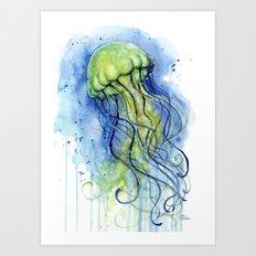 Jellyfish Watercolor | Sea Creatures Art Print