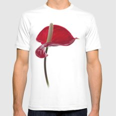 Anthurium - 2 Mens Fitted Tee White SMALL