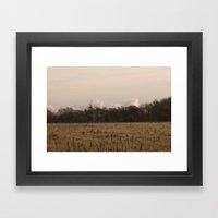 Old Fields Framed Art Print