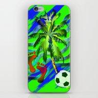 Soccer on the beach iPhone & iPod Skin