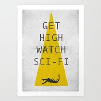 watch sci-fi Art Print