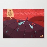 :::Rain drops of love::: Canvas Print