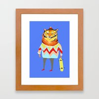 Tiger Dude Framed Art Print