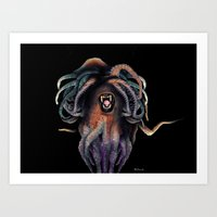 Tentacle monster Art Print