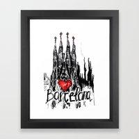 I Love Barcelona Framed Art Print