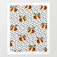 Blood Orange And Dots Art Print