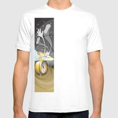 5:55 AM White Mens Fitted Tee SMALL