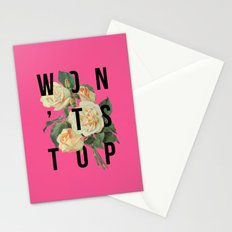 Won't Stop Flower Poster Stationery Cards