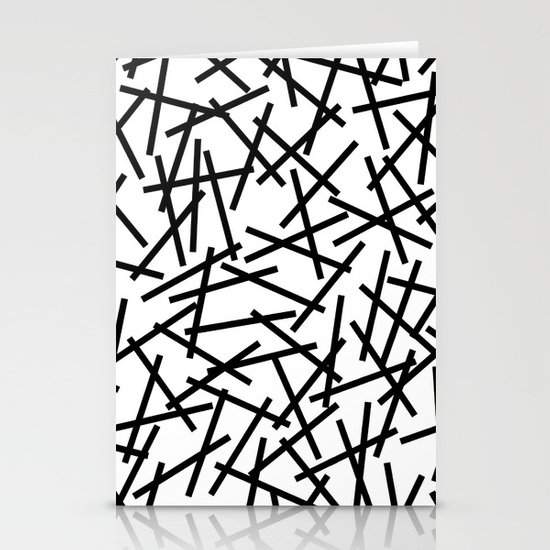 Kerpluk Black on White Stationery Card
