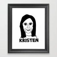 Kristen Wiig Framed Art Print