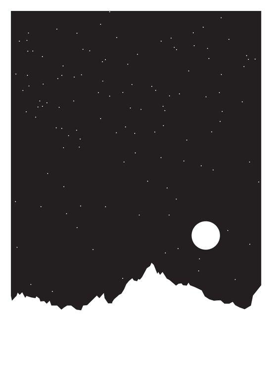 Mountain Sky Night Art Print