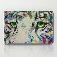 White Tiger iPad Case