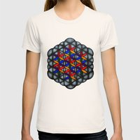 Flower of Life Womens Fitted Tee Natural SMALL