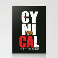 CyniCAl - white Stationery Cards