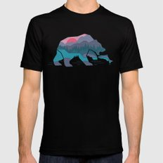 Bear Country Black SMALL Mens Fitted Tee